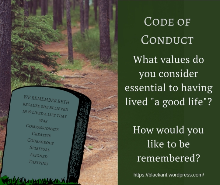 Code of Conduct, Values to lead your life by