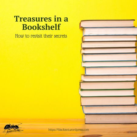 Treasures in a bookshelf, how to revisit their secrets, great books, rereading classics, self-help, learning