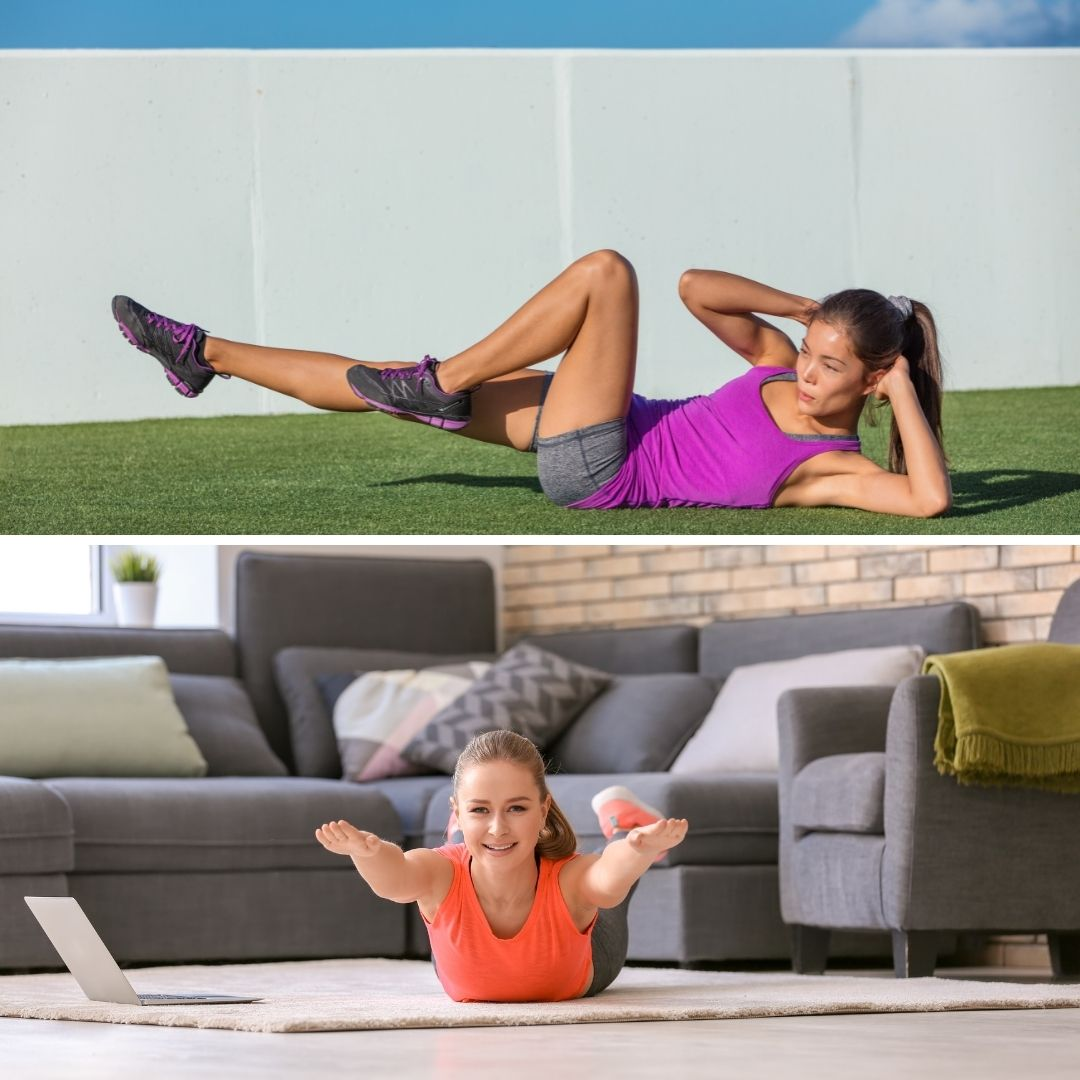 oblique crunches, superman hold, superman exercise
